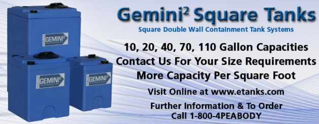 Gemini Square Dual Containment Tanks