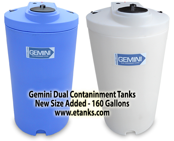 Gemini Tanks in Blue or Natural 160 Gallons