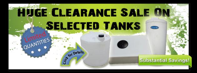 Clearance Plastic Tank Sale